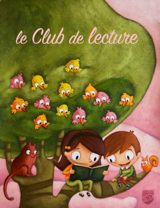 Affiche club de lecture, commission scolaire Marguerite-Bourgeois, Qc, Canada
