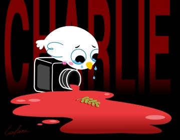 Hommage à Charlie Hebdo, illustration personnelle